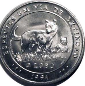 Portugal 🇵🇹 Silver Coin 1000$ Esc. 1994 Lobo Wolf Extinction Species UNC Rare