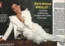 Coupure de presse Clipping 1983 Marie-Hélène Breillat  (2 pages)