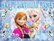 FROZEN : Personalized edible cake toppers  FREE SHIPPING in Canada