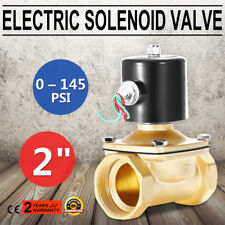 12V 2 inch Brass Electric Solenoid Valve Magnetic Water Air Normally Closed