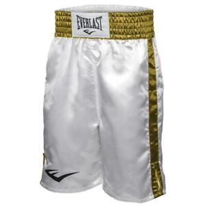 Everlast Boxing / MMA Fight Shorts - Training White/Gold - Size XLarge
