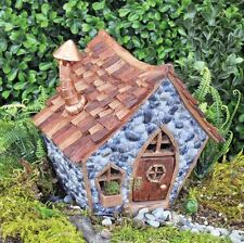 NEW FIDDLEHEAD FAIRY GARDEN HOUSE-Shingletown Crooked Home with Open/Close Door