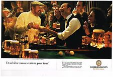 Publicité Advertising 1986 (2 pages) La Bière George Killian's