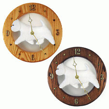 West Highland Terrier Westie Wood Clock Wall Plaque