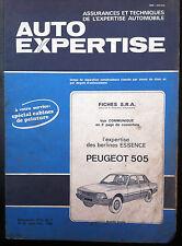 AUTO EXPERTISE n°81; Fiche S.R.A/ PEUGEOT 505 / Cabine de Peinture
