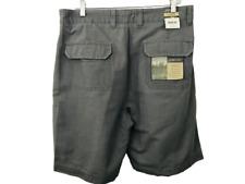 St. John's Bay Mens Shorts 36 Exploration PDA Cotton Canvas Gray Phone Pocket