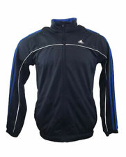Retro ADIDAS Tracksuit Top Track Jacket Navy Blue Zip Up Medium Mens