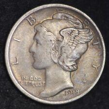 1918 Mercury Dime CHOICE AU FREE SHIPPING E317 RNM