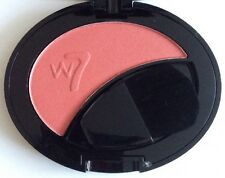 W7 Powder Blush Blusher Shade: Tawny Pink Rose Petal Cheek Tint Compact Sealed