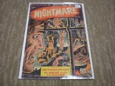 NIGHTMARE #12 (April 1954) St. John Comics JOE KUBERT Classic Torture cover