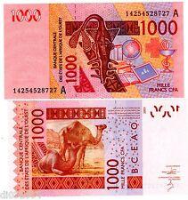 COTE d' IVOIRE AFRIQUE DE l' OUEST WEST STATES 1000 FRS 2003 CHAMEAUX NEUF UNC