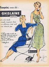 PUBLICITE ADVERTISING 114 1955 GHISLAINE de Boussac robes