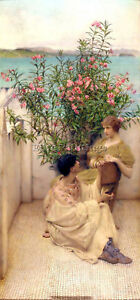 ALMA TADEMA COURTSHIP ARTIST PAINTING REPRODUCTION HANDMADE OIL CANVAS REPRO