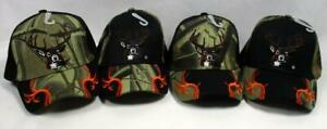 Deer Hunter Baseball Cap Hat Hunting Outdoor Sports Buck Black Camo Embroidered