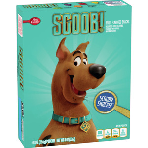 Betty Crocker Fruit Snacks Scooby Doo 20 Pouches 0.8oz Each (Packaging May Vary)