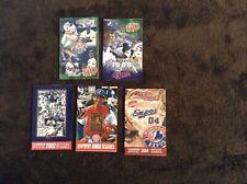 Montreal Expos --  five pocket schedules  --  98-99-02-03-04