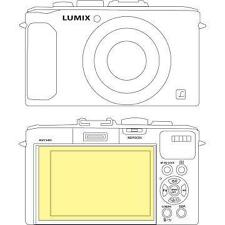 Martin Fields Overlay Plus Screen Protector Film Guard for Panasonic Lumix LX7