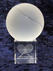RARE: US Open 2003 Tennis 🎾 Glass Tombstone Award Memorabilia