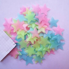 100x Wall Stickers Stars Luminous Glow In The Dark Kids Nursery Room Decor Hot
