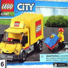 Lego Deliver Truck w Mini-figure (City Square Train 60097 B6) *New Sealed*
