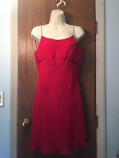EUC! JESSICA MCCLINTOCK Red Dress w/Rhinestone Straps & Shaw - Sz 9/10 - Holiday