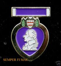PURPLE HEART RIBBON MEDAL HAT PIN US MARINES ARMY AIR FORCE NAVY COAST GUARD VET