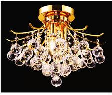 "Palace Contour 16""  Crystal Ceiling Mount Light Gold -Precio Mayorista"
