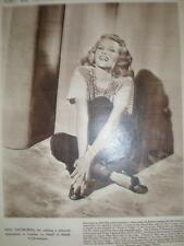 Photo article Film star Rita Hayworth 1947