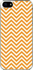 iPhone 5 Orange Chevron Designed Sticker on Hard Case Cover