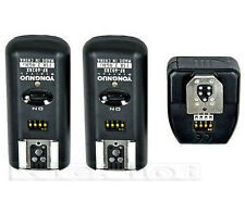 Wireless Remote Flash Trigger Yongnuo RF-602 RF602 2.4GHz 2 Receivers for Canon