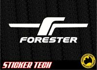 SUBARU FORESTER F 'F' STICKER DECAL SUITS FOZ 2.5XT EJ25 MK2 MK3 SJ MY99 MY98