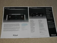 McIntosh MCD500 SACD/CD Player Brochure, 2 pgs, Specs, Info, Beautiful!