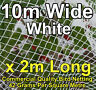 Commercial Knitted Anti Bird Netting 10 Metres Wide x  2 Metres Long - White