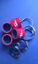 Silicone Hose 45mm Fluro Lined Bike Carb Fitting Kit RED