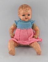 8410004 alte Masse- Puppe Baby Mädchen L40m