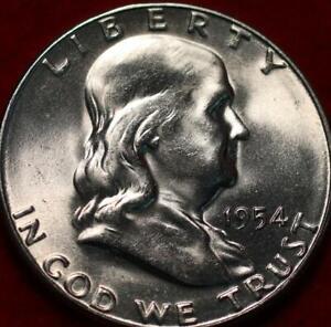 Uncirculated 1954-S San Francisco Mint Silver Franklin Half