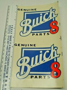 ORIGINAL VINTAGE  WATER DECAL Buick 8 Parts  NOS from the 60's