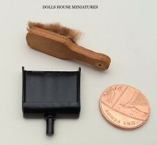 Dustpan & Hand Brush, miniatura. DOLLS HOUSE miniatura, apparecchi per la pulizia