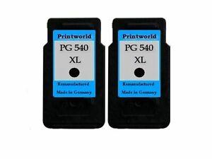 2 Patronen XL Black für Canon PG-540XL
