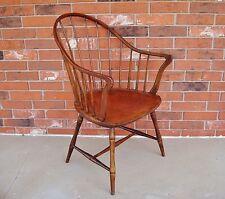 Antique ELGIN SIMONDS New York Continuous Arm Bow-Back Windsor Arm Chair - RARE!
