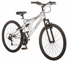 Pacific 26 inches Men's Full Suspension Derby Bike Bicycle - Silver