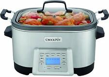 Crock-Pot SCCPMC600SNP 6-Quart 5-in-1 Multi-Cooker, Stainless Steel