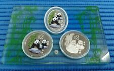 2012 Singapore China Giant Silver Proof Colour Panda Commemorative 3in1 Coin Set
