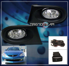 2002 2003 2004 ACURA RSX COUPE 2DR JDM BUMPER DRIVING CHROME FOG LIGHTS+HARNESS