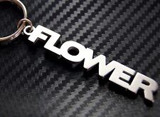 FLOWER Petal Floral Pretty Fleur Personalised Nick Name Keyring Keychain Key