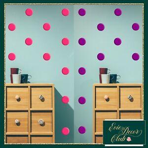 Polka Dots Wall Stickers Decal White Vinyl Art Decor Spots Circle Baby Nursery