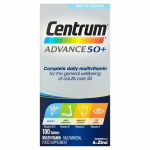 Centrum Advance 50 Plus Multivitamin Tablets - 100 Tablets