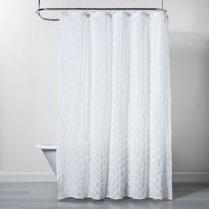 "PROJECT 62 Dots Pattern Opaque Shower Curtain | White | SQUARE | 72""x72"" 