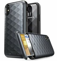 APPLE iPhone X / XS Case Clayco Argos Series Hybrid Protective Wallet Card Cover