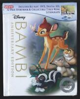 DISNEY BAMBI BLU-RAY + DVD + 32 PG STORYBOOK TARGET *SEALED NO DIGITAL HD*